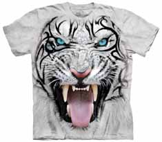 Tribal White Tiger T-Shirt