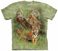 Wild Tiger Collage T-Shirt