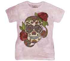 Paisley Sugar Skull Women's T-Shirt