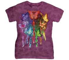 Rainbow Butterfly Dreamcatcher Women's T-Shirt