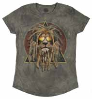 DJ Lion Retro Women's Tri-Blend Tee