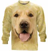 Big Face Golden Long Sleeve T-Shirt