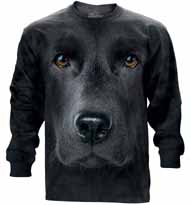 Black Lab Face Long Sleeve T-Shirt