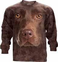 Chocolate Lab Face Long Sleeve T-Shirt