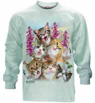 Kittens Selfie Long Sleeve T-Shirt