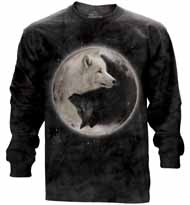 Yin Yang Wolves Long Sleeve T-Shirt
