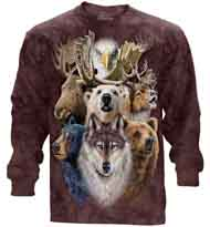 Northern Wildlife Collage Long Sleeve T-Shirt
