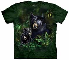 Black Bear And Cub T-Shirt