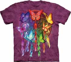 Rainbow Butterfly Dreamcatcher T-Shirt