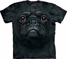 Black Pug Face T-Shirt