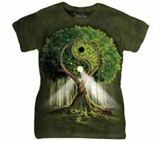 Yin Yang Tree Women's T-Shirt