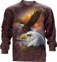 Eagle And Clouds Long Sleeve T-Shirt